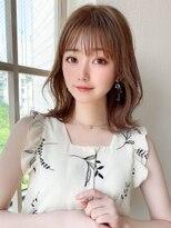 アフロート斎藤 20代30代くびれミディアムヘア パッツン前髪