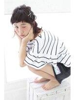 ミニヨン バイ ハピネス 高の原店(mignon by Happiness)Happiness×清水美樹 外ハネボブのハーフアップ