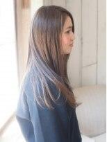 ヘアーサロンウフ(hair salon Oeuf)柔らかさ引き立つベージュカラースタイル