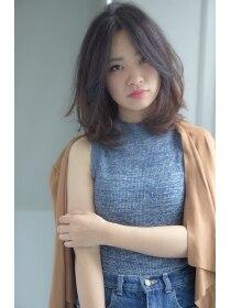前髪長めのラフミディアム☆【GULGUL新小岩店】