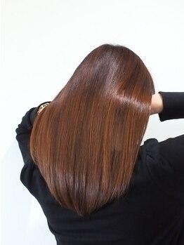 ヘアーサロン リンカ(Hair Salon Rinka)の写真/しっとり柔らかで透き通るようなナチュラルストレートへ★頑固なクセ毛、広がりをしっかりまとまるツヤ髪へ