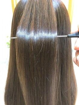 エイミー(aimy)の写真/丁寧なカウンセリングと施術で理想のストレートヘアを形に!お客様にもご定評を頂いています☆