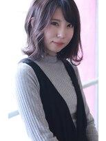 【Creo】ダークラベンダーローズカラー#無造作カール#韓国#小顔