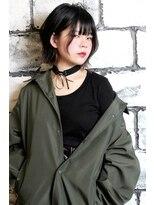 エクラロル(hair&make e'clat Lol)黒髪インナー×外ハネボブ
