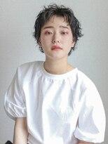 テトヘアー(teto hair)SHORT[前髪カラー・くるくるパーマ・ベリーショート]