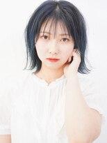ユイマァルオアシス(YUIMARL OASIS)サワーブルーのミニボブ夏スタイル☆
