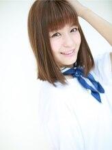 アグ ヘアー シュシュ札幌2号店(Agu hair chouchou)☆ミディストレートヘア☆