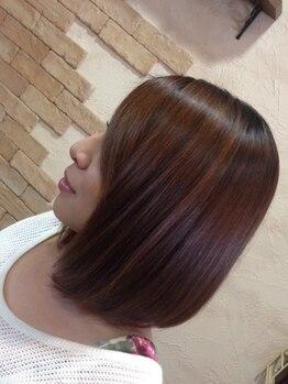 ヘアーラボ クレオ(Hair Labo CREO)の写真/髪に優しいメニュー豊富!【6種のハーブエキス配合白髪染めカラー+似合せカット+保湿たっぷりTr新規¥6000】