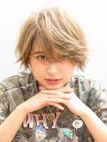 ジュイル シブヤ(JEWIL SHIBUYA)Noz渋谷 『ブリーチサプリで♪』モーブカラーナチュラルショート