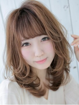アグ ヘアー ヴィゼ 山科店(Agu hair vise)内巻き×レイヤー入りミディアム