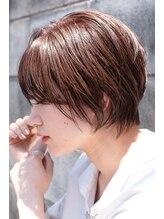 ソアヘアー(Soar hair)【Soar】エッジショート×ピンクブラウン