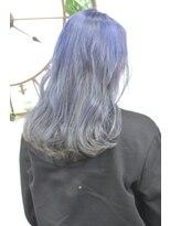 ヘアーサロン エール 原宿(hair salon ailes)(ailes原宿)style322 デザインカラー☆ブルーグレージュ