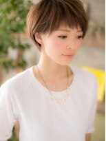 *+COVER HAIR+*…潤いカラー☆…で゛シンプルショート゛b!
