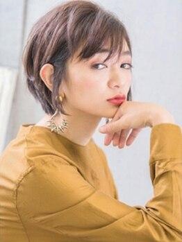 ネオリーブ ジューク 日吉店(Neolive JuQ)の写真/小顔魅せも叶うJuQの『ショートcut』を是非ご体感ください!カット+カラー+TR ¥7700