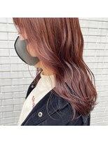 フェン ヘアーアイス(Fen.hair ici)秋冬 深めオレンジカラー ロング
