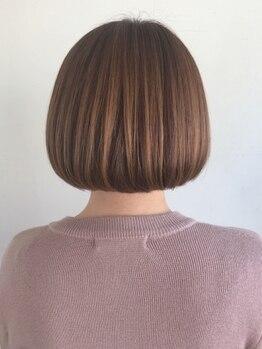 ヘアービーンズの写真/仕上がりの髪のツヤ感、ナチュラルさを実現。乾かすだけでサッとまとまる、再現性の高いスタイルに!