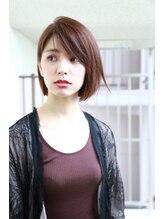 モード ケイズ 塚本店(MODE K's)顎ラインがとても綺麗大人かわいいボブ 斜めシースルー前髪