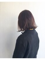 ヘアメイク オブジェ(hair make objet)ピンクブラウンボブ KAI