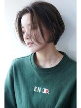 エアー 福岡店(air)【air-FUKUOKA】大人かわいいハンサムショート 黒髪も可