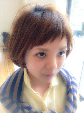 ジュール 三条店(Jour)前髪マユ上キュートボブ☆byジュール三条店 平松