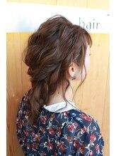 ヘアーティズム ナラマチ(hair-TISM Naramachi)パーティーダウンアレンジ