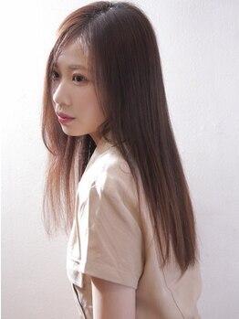 ヘアーメイクジェンテ(hair make gente)の写真/まっすぐすぎずnaturalな仕上がりに!髪質改善にこだわるサロンの知識と薬剤選定で髪の弾力を残し施術します