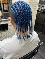 Blue cornrow TRICKstyle!