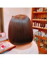 ミーノ(mieno)【髪質改善】髪のボリュームを抑える◎丸みショートボブ