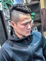 オムヘアーツー (HOMME HAIR 2)#ハイフェード#ハードパーマ#サイドパートモヒカン#homme2nd櫻井