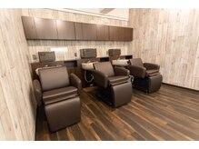 美容室 コーストアール 稲毛店(coast-R)の雰囲気(ちょっぴりムーティなシャンプースペース♪日頃の疲れを癒して♪)