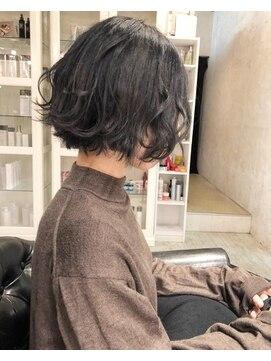 ヘアー アトリエ エゴン(hair atelier EGON)切りっ放し前下がり!!