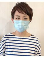 ラトリエコンタン(L´atelier Content)ベリーショートくせ毛風×マスク美人