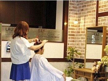 フェリーチェ ヘア ルーム(Felice Hair Room)の写真/最初から仕上げまでマンツーマン施術☆気兼ねない貸切空間で、ゆったり癒しのひと時をお過ごし頂けます♪