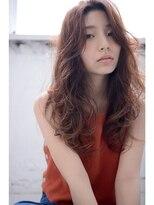 orange brown×shake wave【long】#001