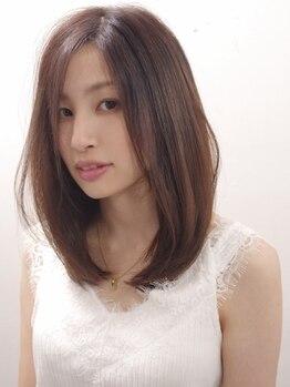 ヘアーメイクジェンテ(hair make gente)の写真/縮毛矯正とは違う新メニュー【ベースメイク】最新の技術でダメージレスなのに、しっかり髪質改善!