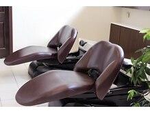 ヘアプロデュース ムース(Hair Produce MU SU)の雰囲気(首の負担なく全身を預けられて心地良いYUMEシートを導入。)