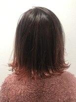ポッシュ 原宿店(HAIR&MAKE POSH)赤グラ 裾カラー