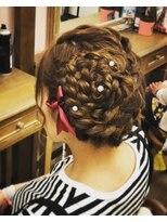 ヘアセットサロン アトリエ チャイ(Hair set salon atelier CHAI)ビックラワー♪ガーリーアップスタイル
