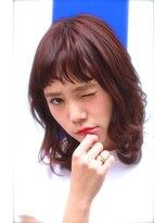 プレディカ(pledica)【pledica】ピンクブラウンでツヤ感を☆束感バング