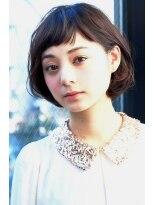 ギフト ヘアー サロン(gift hair salon)ショートバングのゆるふわボブスタイル(熊本・通町筋・上通り)