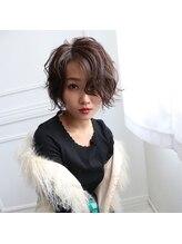 シスタ ヘアーデザイン(CISTA hair design)柔らかいツヤが漂うラフカールボブ