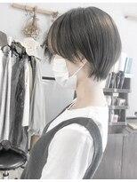 【Marl】前髪と顔周りインナーカラーのマッシュショート♪