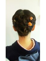ヘア エスト 香椎店(HAIR EST)ヘアセット 編みこみアップ