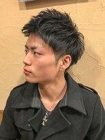 オムヘアーフォー(HOMME HAIR 4)王道ワイルドツーブロックアップバング【HOMME HAIR4 熊田】