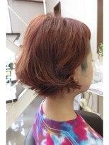 ☆赤髪×刈り上げ☆ふわくしゃ夏ショート