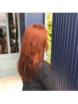 ブリーチなしオレンジヘア