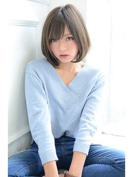 ジュール(Jule)◎透明感 20代30代◎お手入れ簡単大人かわいいワンカールボブ♪