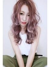プレアヘアドレッシングハイ透明感カラー☆ピンクアッシュ