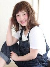 レガロヘアーデザイン(Regalo hair design)Regalo☆大人かわいいアシメバングの外はねロブ☆