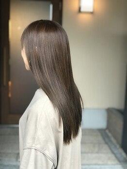 美容室 蓮(REN)の写真/ダメージを抑えた縮毛*髪質に合わせた施術で髪を傷ませない!ゆったりとした和の空間で施術が受けられる♪
